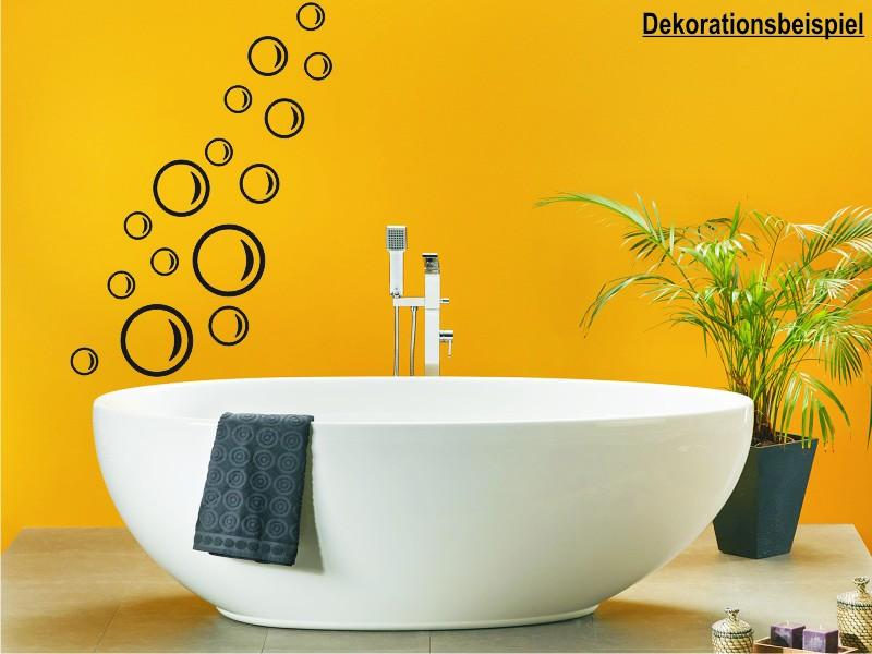 seifenblasen wellness luftblasen badezimmer deko wandtattoo wandaufkleber ebay. Black Bedroom Furniture Sets. Home Design Ideas