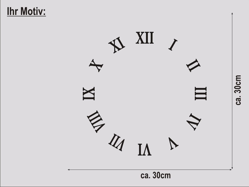 Uhr römische zahlen  Wanduhr