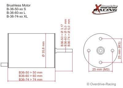 brushless motor b36 60 15l kv 1650 brushless motoren. Black Bedroom Furniture Sets. Home Design Ideas